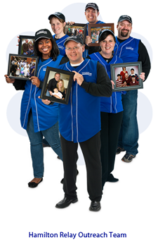 Photo of Hamilton Relay Outreach Team. Click to visit the CapTel site.